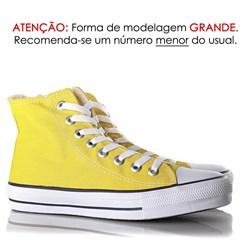 Tênis Feminino Casual Old Star Cano Alto Lona Botinha Amarelo