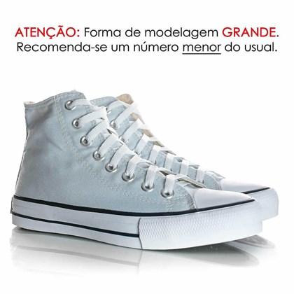 Tênis Feminino Casual Old Star Cano Alto Lona Botinha Azul Claro