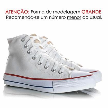 Tênis Feminino Casual Old Star Cano Alto Lona Botinha Branco