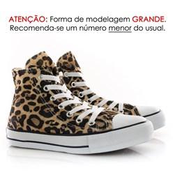 Tênis Feminino Casual Old Star Cano Alto Lona Botinha Onça