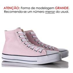 Tênis Feminino Casual Old Star Cano Alto Lona Botinha Rosa