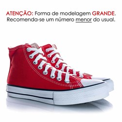 Tênis Feminino Casual Old Star Cano Alto Lona Botinha Vermelho