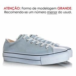 Tênis Feminino Casual Old Star Sola Alta Flatform Lona Azul Claro