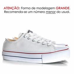 Tênis Feminino Casual Old Star Sola Alta Flatform Lona Branco