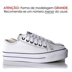 Tênis Feminino Casual Old Star Sola Alta Flatform Napa Branco