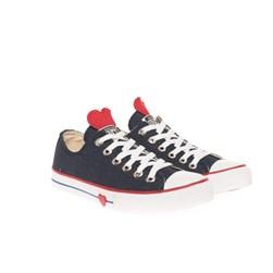 Tênis Feminino Casual OldStar Coração Jeans Jeans
