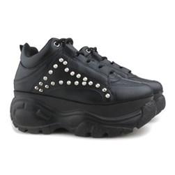 Tênis Feminino Chunky Sneaker Buf com Spikes Lançamento Preto Napa