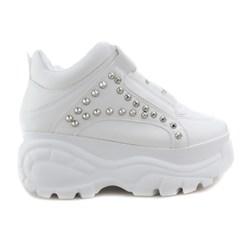 Tênis Feminino Chunky Sneaker Bufallo com Spikes Lançamento Preto Napa