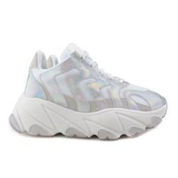 Tênis Feminino Chunky Sneaker Holografico Lançamento  Holografico