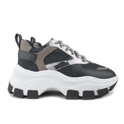 Tênis Feminino Chunky Sneaker Sola Alta Blogueira  Preto