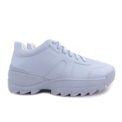Tênis Feminino Chunky Sneaker Sola Alta Lançamento Azul Claro