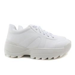 Tênis Feminino Chunky Sneaker Sola Alta Lançamento Branco Napa