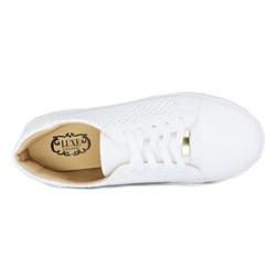 Tênis Feminino Flatform Sola Alta com Furinhos Branco