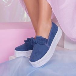 Tênis Feminino Iate Leticia Shoes com Laço Azul