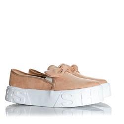 Tênis Feminino Iate Leticia Shoes com Laço Nude