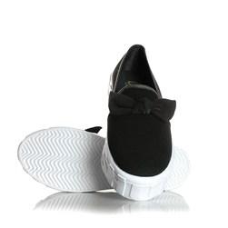 Tênis Feminino Iate Leticia Shoes com Laço Preto