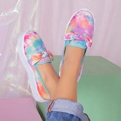 Tênis Feminino Iate Leticia Shoes com Laço Tie Dye