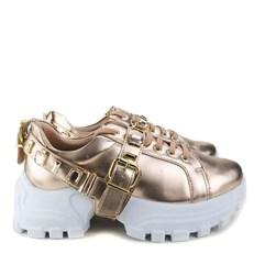 Tênis Flashtrek Chucky Sneakers Pedraria e Fivela Cobre