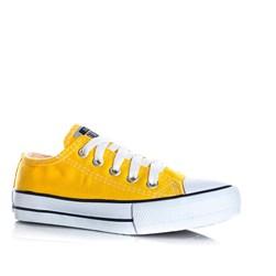 Tênis Infantil Feminino Unissex Com Cadarço Old Star Lona Moda Menino Menina Amarelo