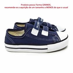 Tênis Infantil Casual Old Star Velcro Lona Marinho