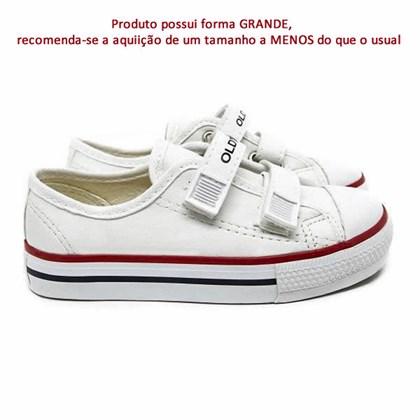 Tênis Infantil Casual Old Star Velcro Napa Branco