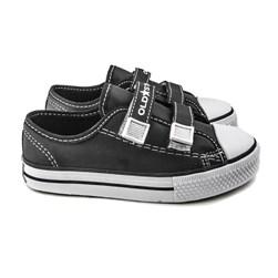 Tênis Infantil Casual Old Star Velcro Napa Preto Napa