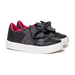 Tenis Infantil Com Elástico calce Fácil Moda Menina lançamento Marinho/Pink