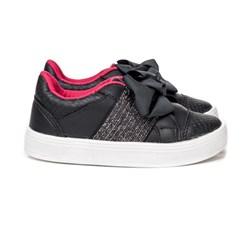 Tenis Infantil Com Elástico calce Fácil Moda Menina lançamento Preto/Pink