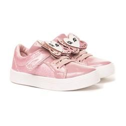 Tênis Infantil Feminino Com Velcro Moda Menina Lançamento  Opala/Rosa