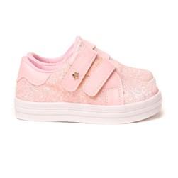 Tênis Infantil Feminino Glitter Calce Fácil Moda Menina Rosa