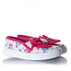 SLIPPER LAÇO TININHA Branco/Pink