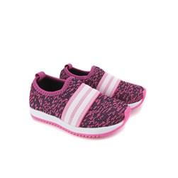 Tênis Infantil Menina Calce Fácil com Elástico Pink