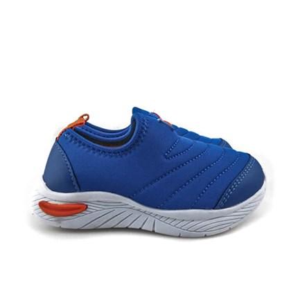 Tênis Infantil Menino Lycra Esportivo Azul