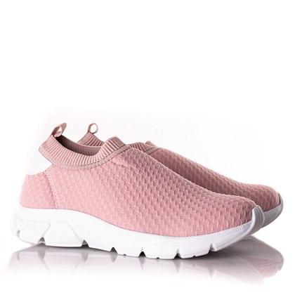 Tenis Meia Feminino Calce Facil Confort  Rosa