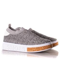 Tenis Meia Feminino Calce Facil Sola Shoes  Cinza