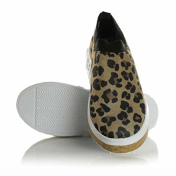 Tenis Meia Feminino Calce Facil Sola Shoes  Onça