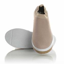 Tenis Meia Feminino Calce Facil Sola Shoes  Salmao
