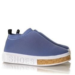 Tenis Meia Feminino Sola Shoes Calce Facil Azul