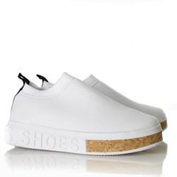 Tenis Meia Feminino Sola Shoes Calce Facil Branco