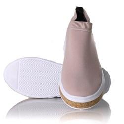 Tenis Meia Feminino Sola Shoes Calce Facil Nude