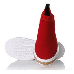 Tenis Meia Feminino Sola Shoes Calce Facil Vermelho