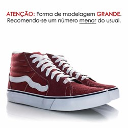 Tenis Old Star Botinha Old School Bordo
