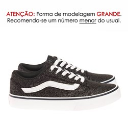 Tenis Old Star Brilhoso Preto