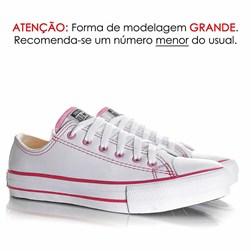 Tênis Old Star Casual Couro Sintetico Branco/Rosa
