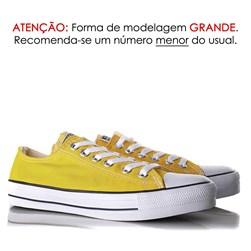 Tênis Old Star Casual Lona Amarelo