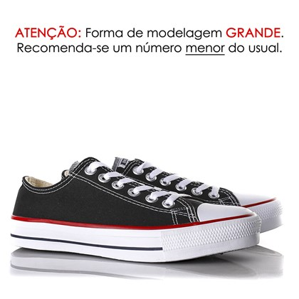 Tênis Old Star Casual Lona Preto