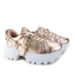 Tênis Pedraria Flashtrek Chucky Sneakers Sola Alta Lançamento Cobre