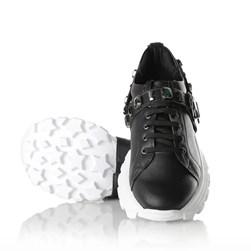 Tênis Pedraria Flashtrek Chucky Sneakers Sola Alta Lançamento Preto Napa