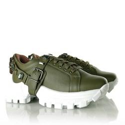Tênis Pedraria Flashtrek Chucky Sneakers Sola Alta Lançamento Verde Militar